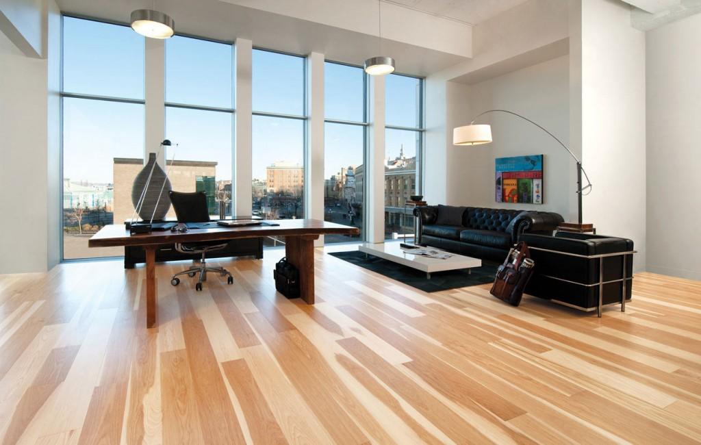 Hardwood engineered flooring